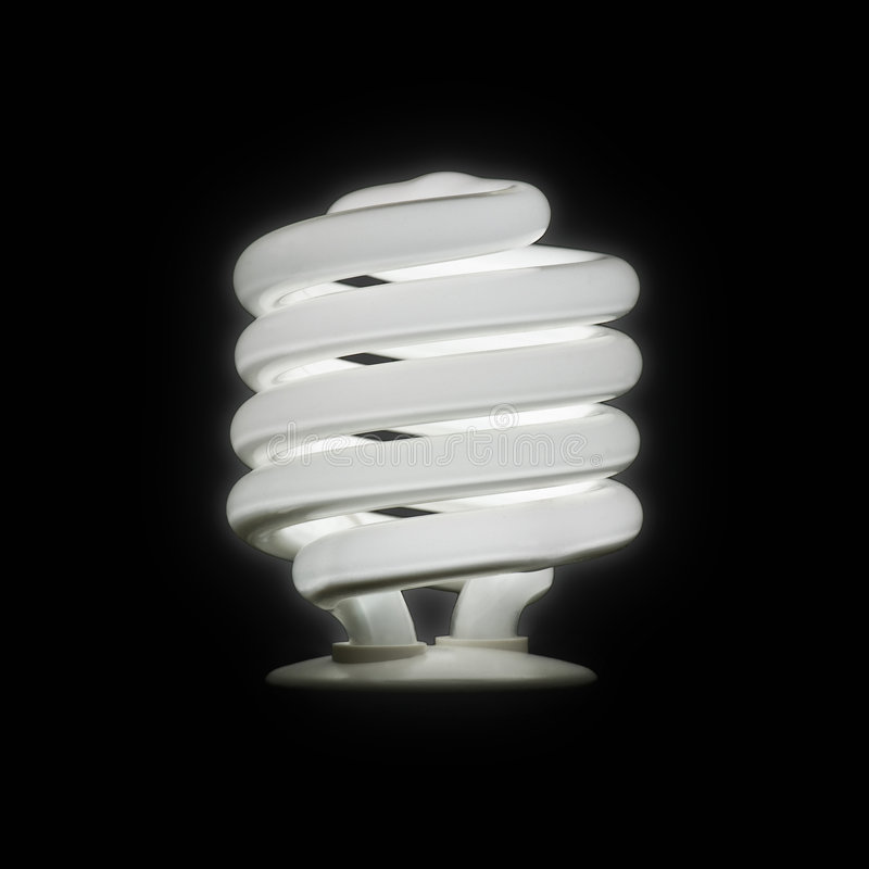 Ampoule fluorescente compacte photographie stock libre de droits