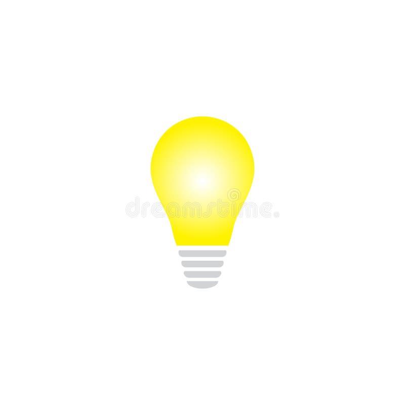 Ampoule jaune rougeoyante comme concept d'inspiration illustration stock