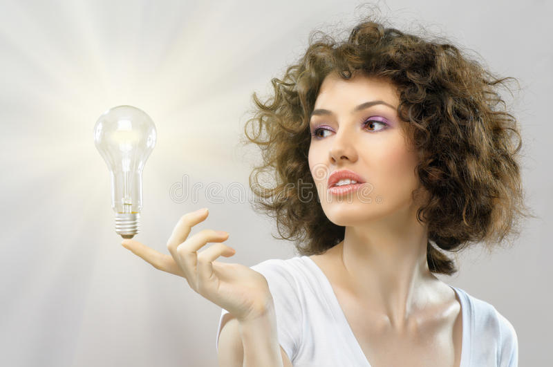 Ampoule lumineuse photo stock