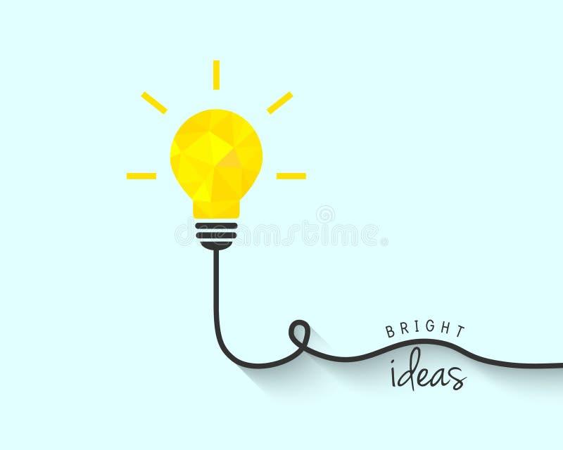 Ampoule lumineuse de polygone comme concept d'idée illustration de vecteur