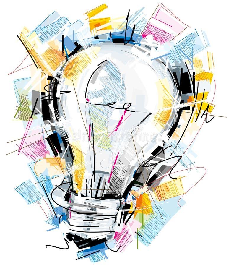 Ampoule peu précise illustration de vecteur
