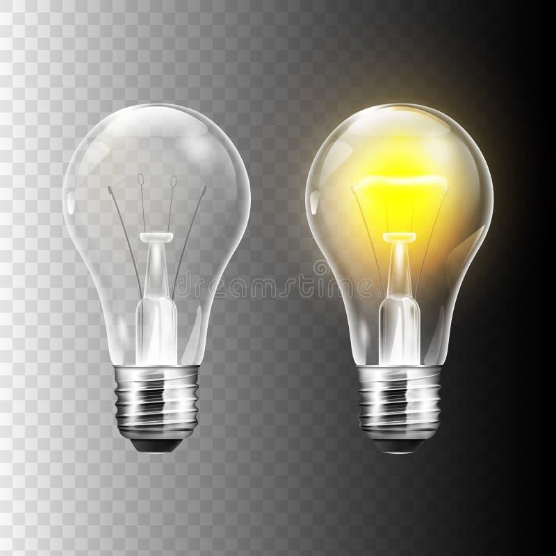 Ampoule réaliste d'illustration courante de vecteur d'isolement sur un fond transparent ENV 10 illustration de vecteur
