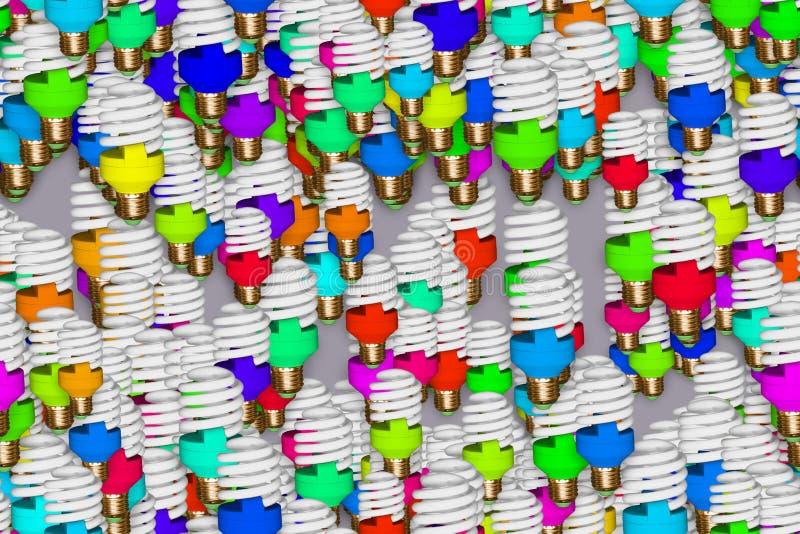 Ampoule rose créative sans couture, image d'ampoule et d'ampoule sur le fond solide illustration de vecteur