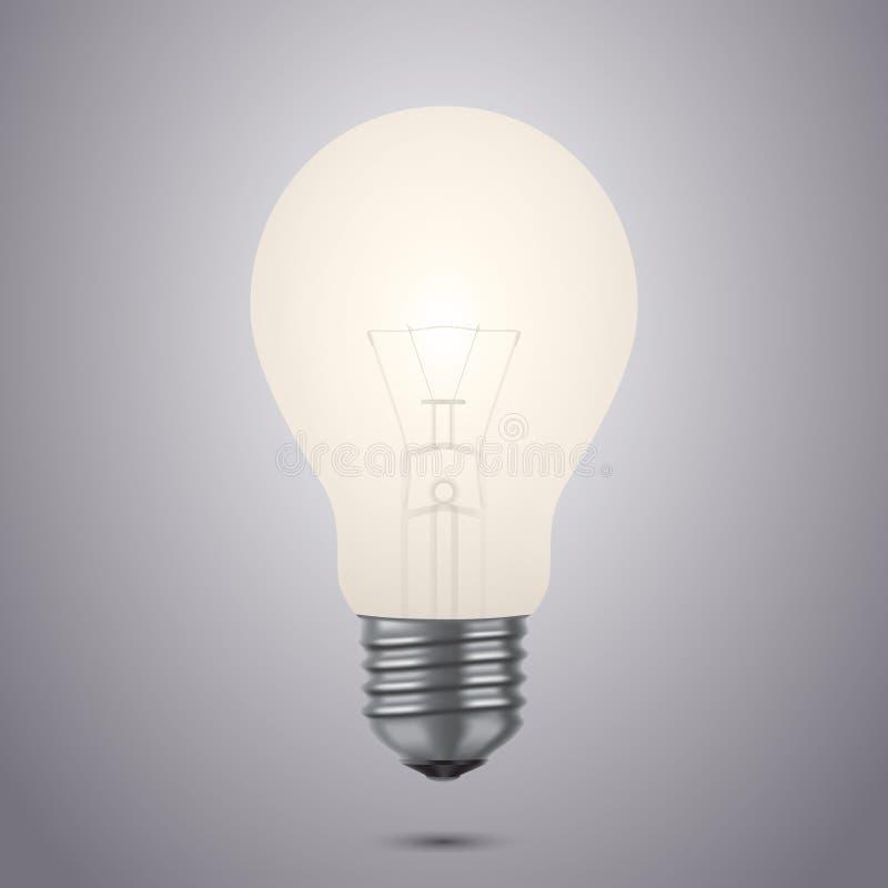 Ampoule rougeoyante illustration stock