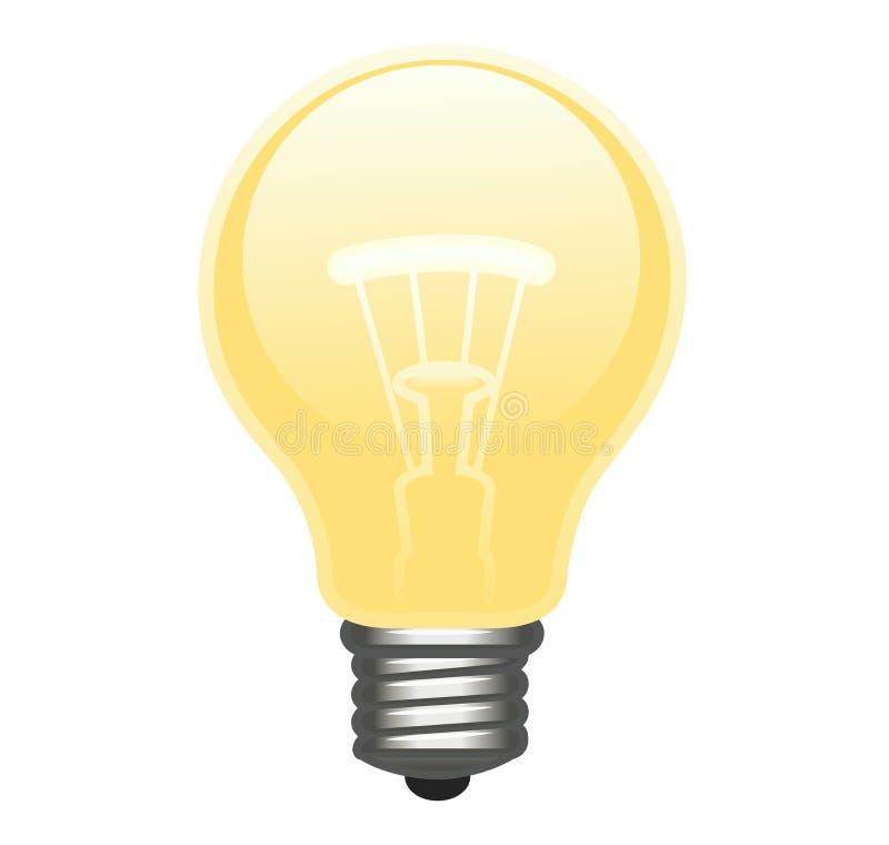 Ampoule rougeoyante illustration de vecteur