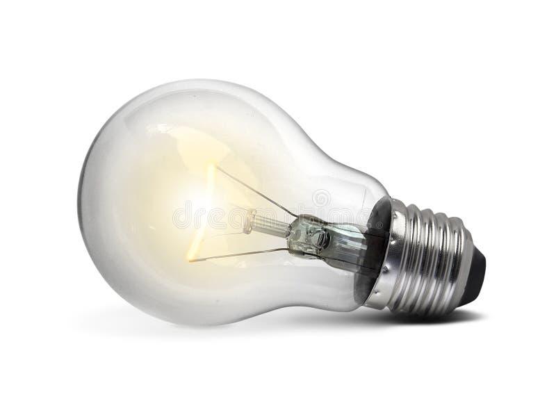 Ampoule, sur le fond blanc photographie stock libre de droits