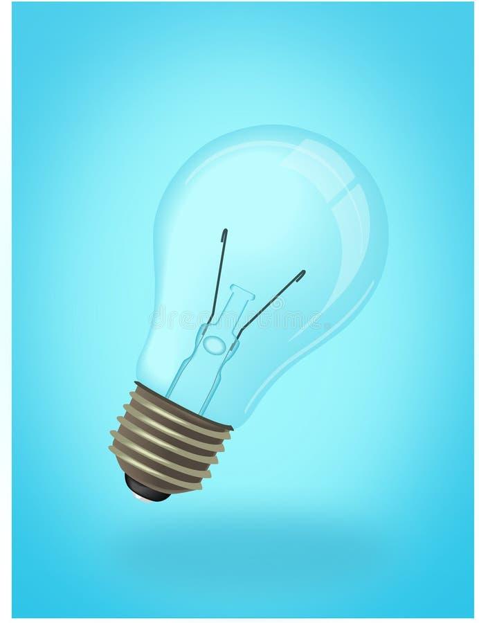 Ampoule sur le fond bleu image libre de droits