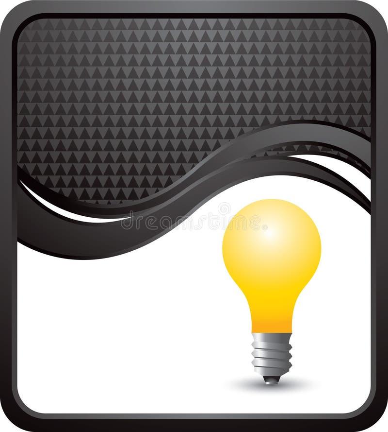 Ampoule sur le fond checkered noir d'onde illustration libre de droits