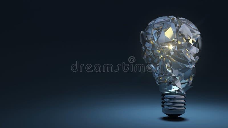 Ampoule sur le fond foncé saletúx illustration de vecteur