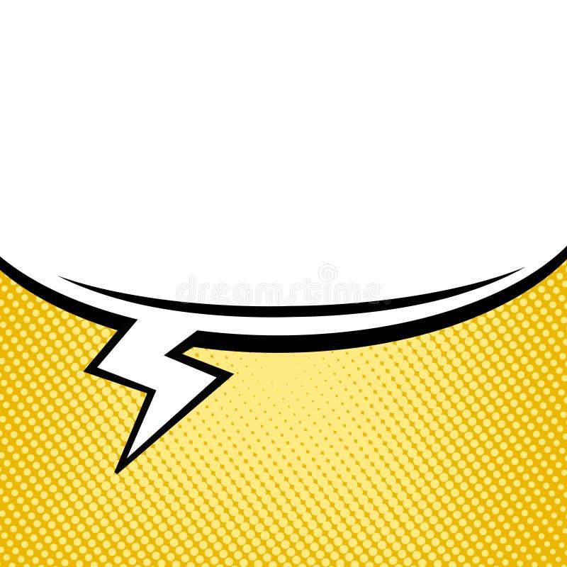 Ampoule vide de la parole de bruit de style comique créatif abstrait d'art sur rétro illustration de vecteur