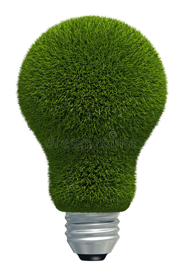 Ampoule virtuelle d'herbe illustration stock