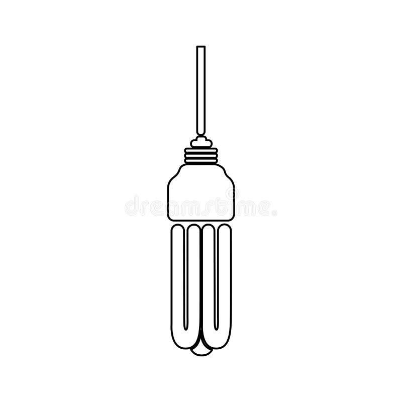 ampoules économiseuses d'énergie accrochant l'icône illustration libre de droits