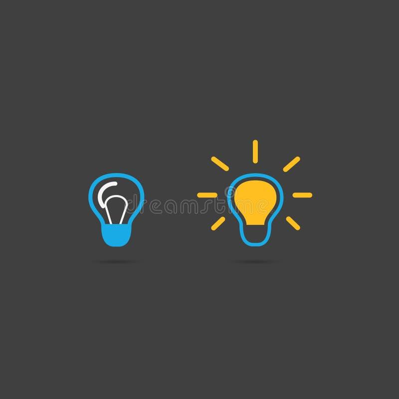 Ampoules colorées Ensemble d'icône d'ampoule Branchez et commutez  illustration de vecteur