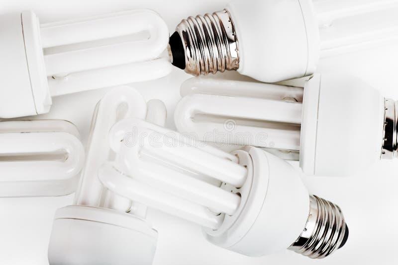 Ampoules d'épargnant d'énergie photographie stock libre de droits