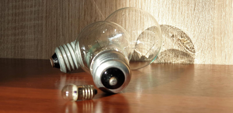 Ampoules d'Edison Ampoules en verre Ampoules pour allumer le plan rapproché image stock