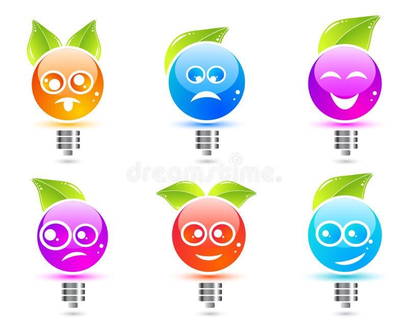 Ampoules d'Emotic illustration libre de droits