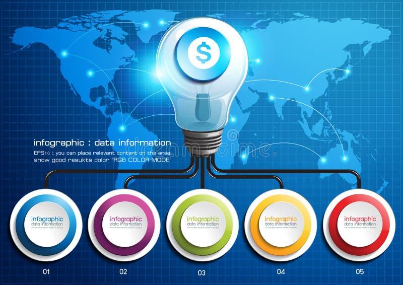 Ampoules d'Infographic illustration de vecteur