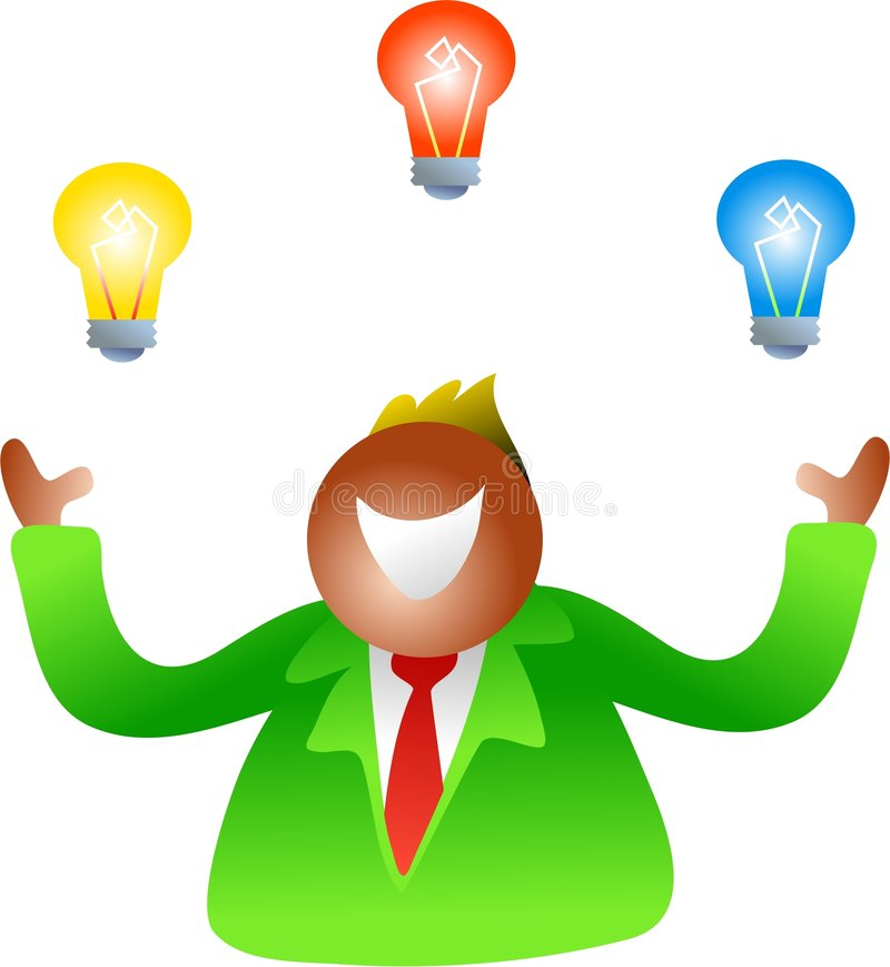 Ampoules de jonglerie illustration libre de droits