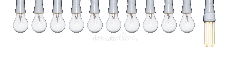 ampoules dix à une images libres de droits
