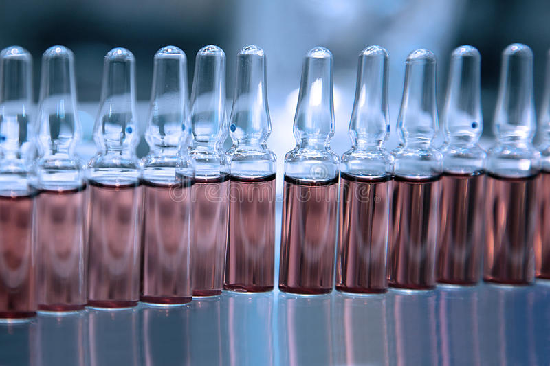 Download Ampoules with Medicine stock image. Image of medical - 28091235