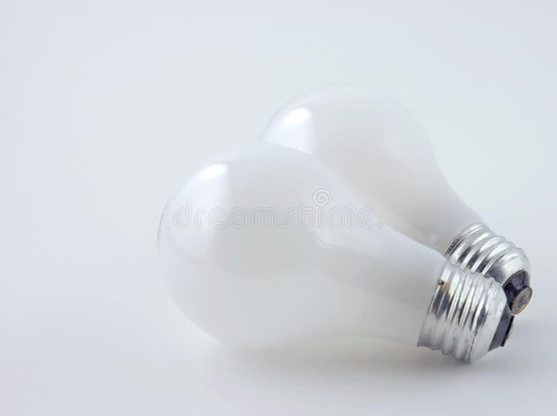 Ampoules sur le blanc photo stock