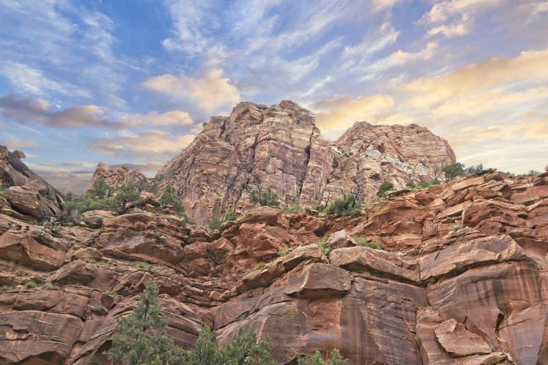 Ampuł skały lokalizować w Zion parku narodowym, Utah obrazy stock