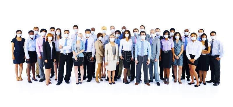 Ampuła Grupuje ludzi biznesu Utrzymuje ciszę zdjęcie stock
