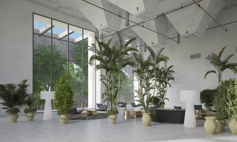 Ampuła podwaja tomowego żywego izbowego atrium zdjęcia royalty free