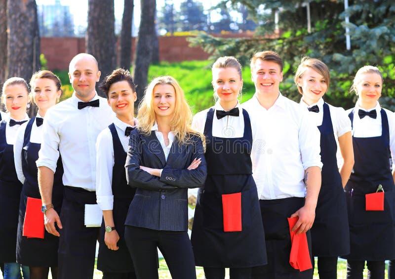 Ampuły grupa kelnery obraz royalty free