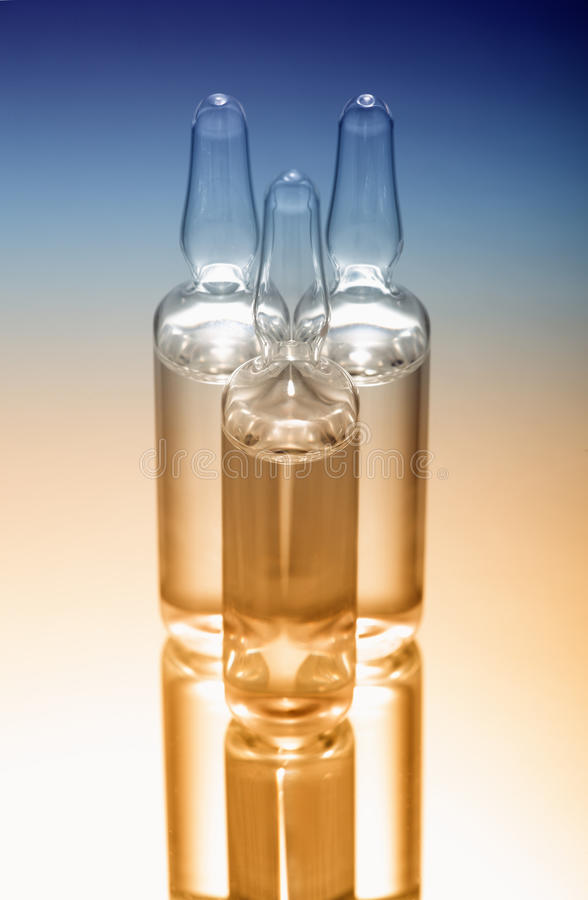 ampules szklani zdjęcie stock