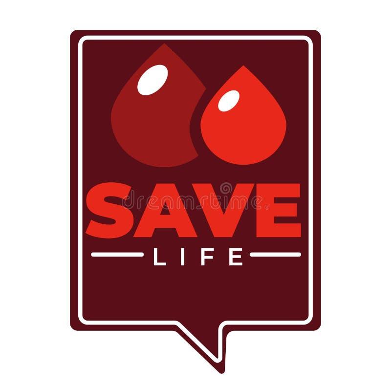 Ampulheta do ícone da doação de sangue da caridade e ajuda médica do vetor do coração e transfusão isoladas da emergência ilustração stock