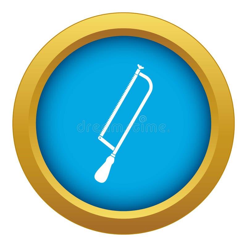 Amputacja i chirurgicznie zobaczyliśmy ikona błękitnego wektor odizolowywającego ilustracja wektor
