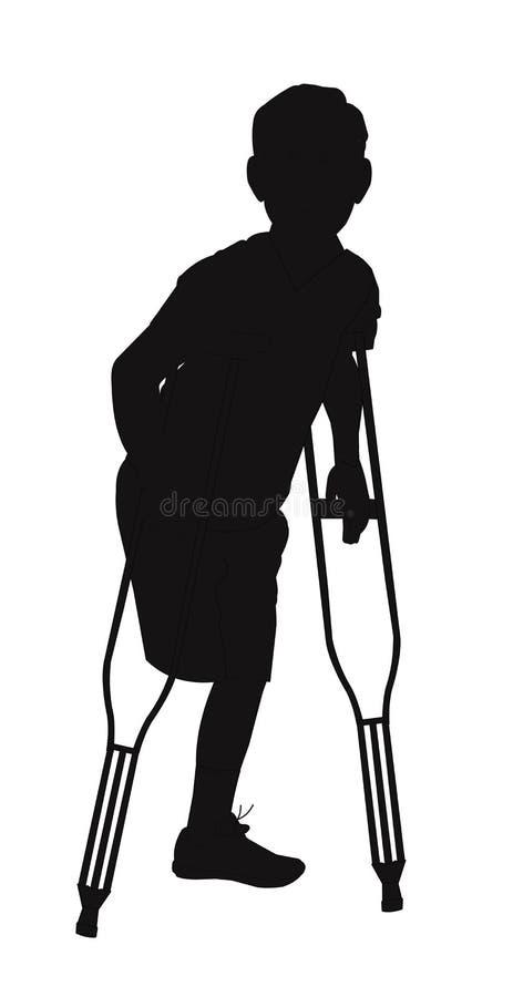 Amputado masculino ilustração royalty free