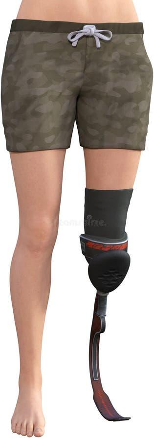 Amputazione prostetica della gamba, amputato, isolato royalty illustrazione gratis