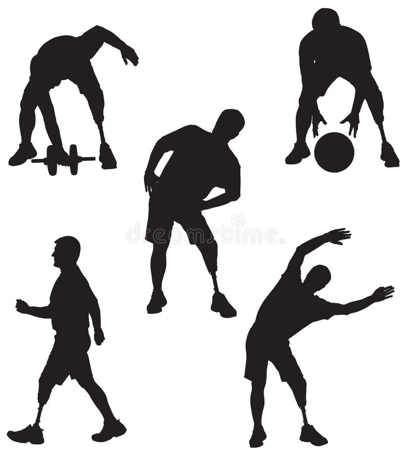 Free Amputee Silhouettes 5 Stock Photography - 30600732