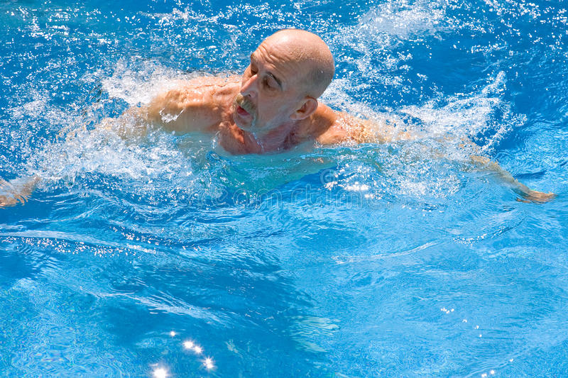 Download Amputee Swimming stock photo. Image of disability, overcome - 17962470