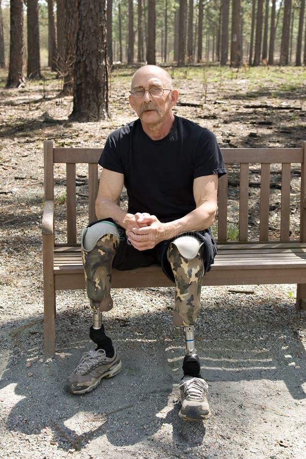 Free Amputee Wearing Prosthetic Legs Stock Photos - 8926163
