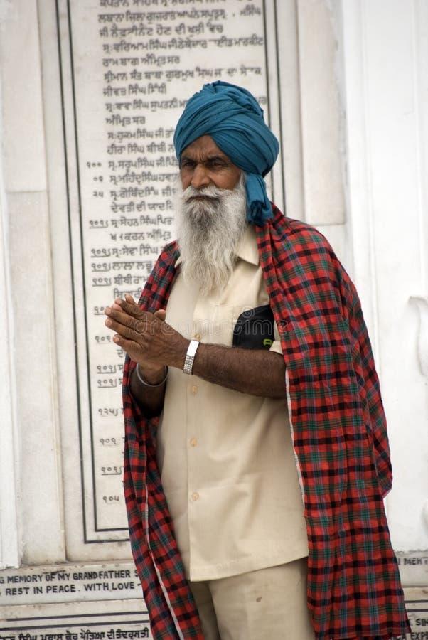 amritsar προσκυνητής Punjab Σιχ της Ιν& στοκ φωτογραφίες