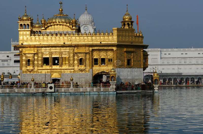 Amritsar. Golden temple (Sri Harimandir Sahib) in Amritsar. It is a central religions place of the Sikhs royalty free stock photo