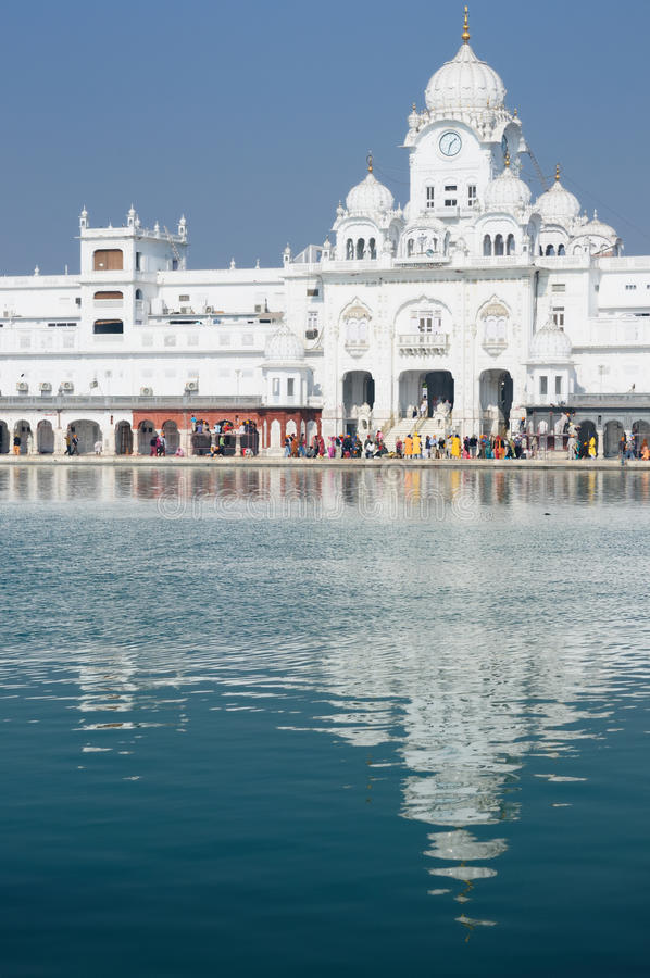 Amritsar. Golden temple (Sri Harimandir Sahib) in Amritsar. It is a central religions place of the Sikhs royalty free stock image