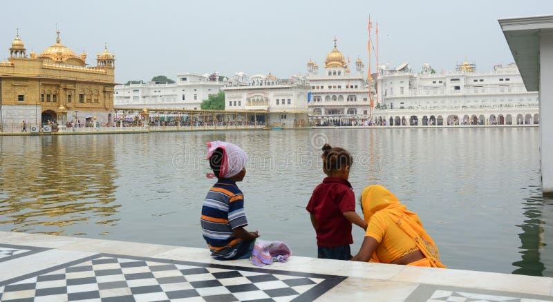 amritsar byggnad räknade för den india för hel guld det guld- tempelet leafen arkivfoton
