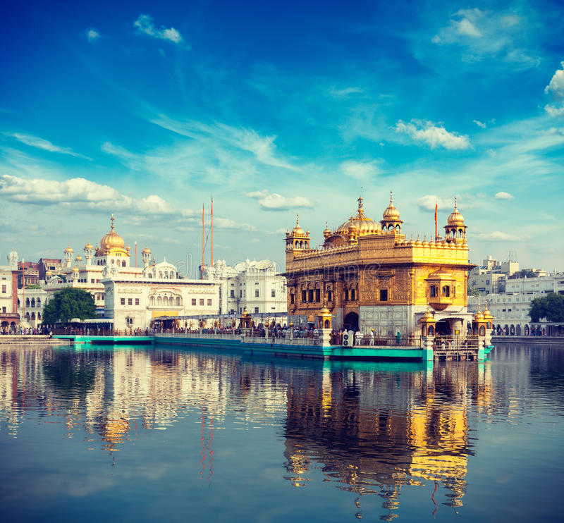 amritsar guld- tempel arkivbilder