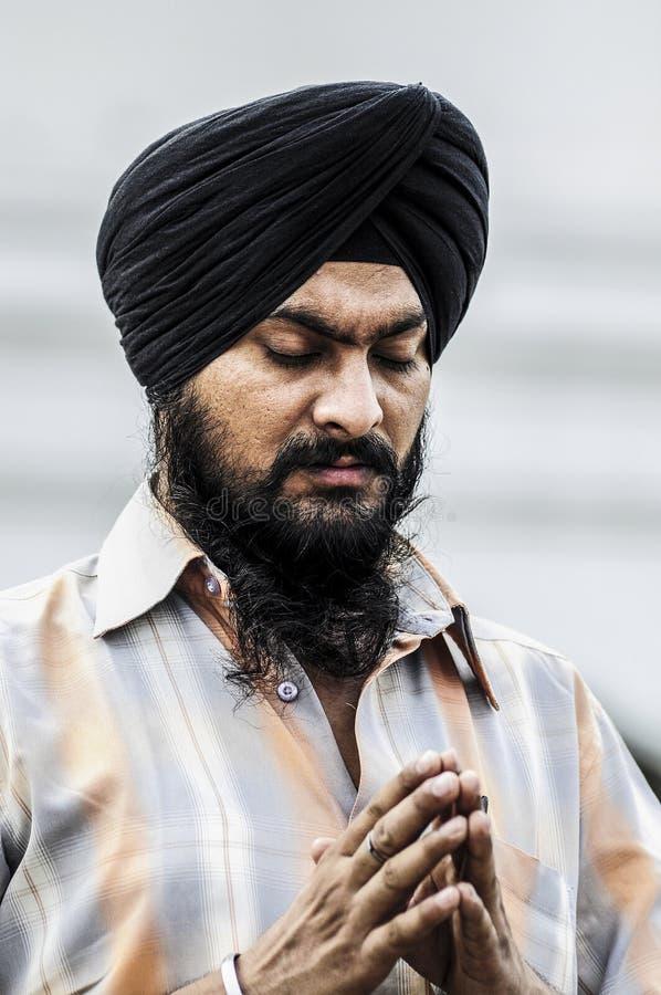 Amritsar, India, 5 september, 2010: Sikh portret van de Indische mens, stock afbeelding