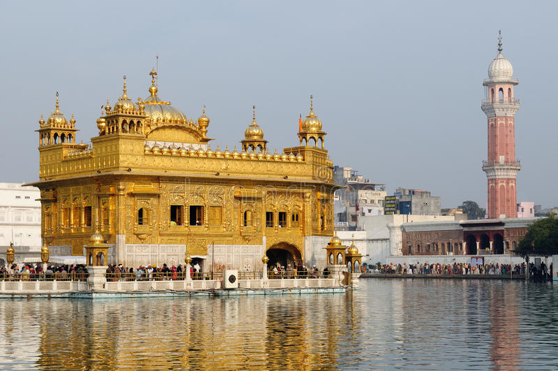 Amritsar, Złota świątynia, India fotografia royalty free