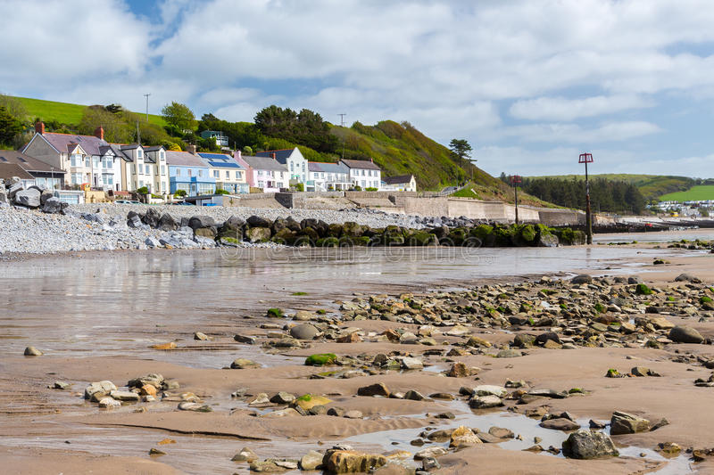 Amroth Beach Pembrokeshire Wales stock images