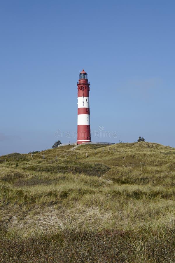 Amrum (Allemagne) - phare Amrum photographie stock