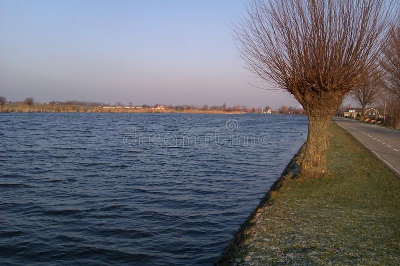 Amstel canal royalty free stock photography