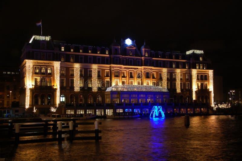 Amstel Hotel in Amsterdam stockfotos