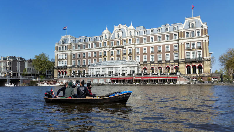 Amstel hotel stock image