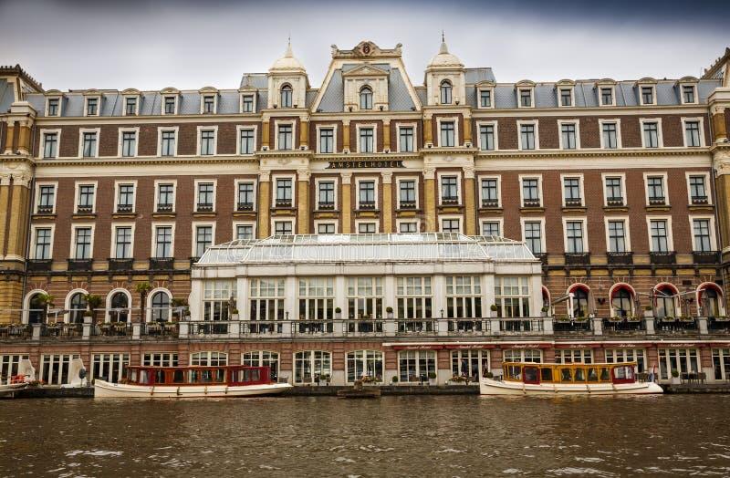 Amstel hotell i Amsterdam royaltyfria bilder